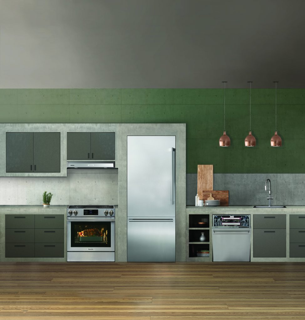 Blomberg18_KitchenConcreteSlideInRange30inchFridge