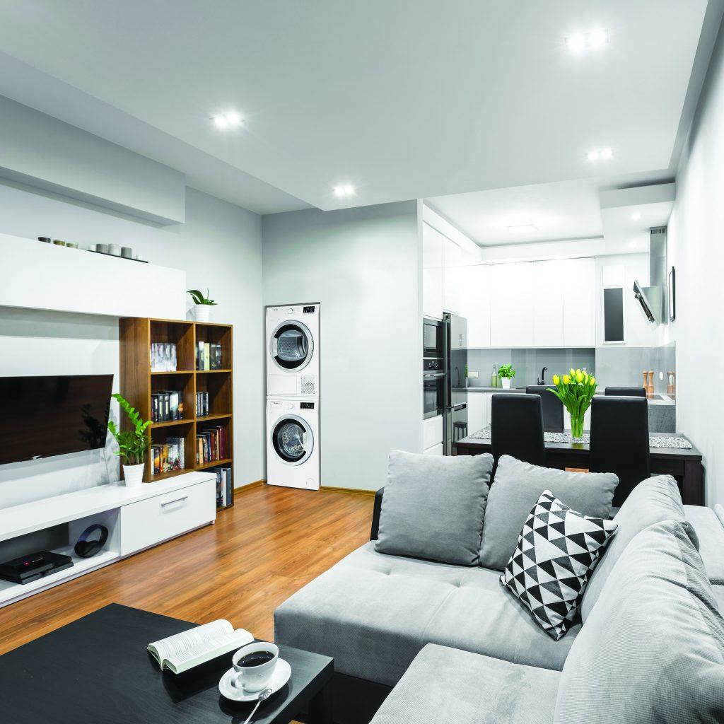 Trendy open floor plan idea